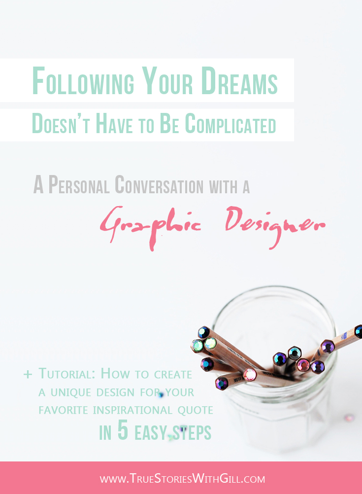 Following your dreams. Personal conversation with a graphic designer Carmia Cronje