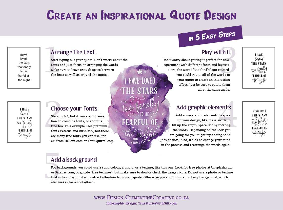 Create inspirational quote design in 5 easy steps
