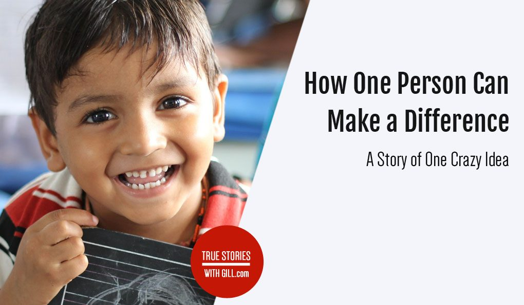 How one person can make a difference. Inspirational story.